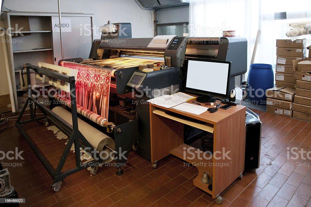 Digital textile printing royalty-free stock photo