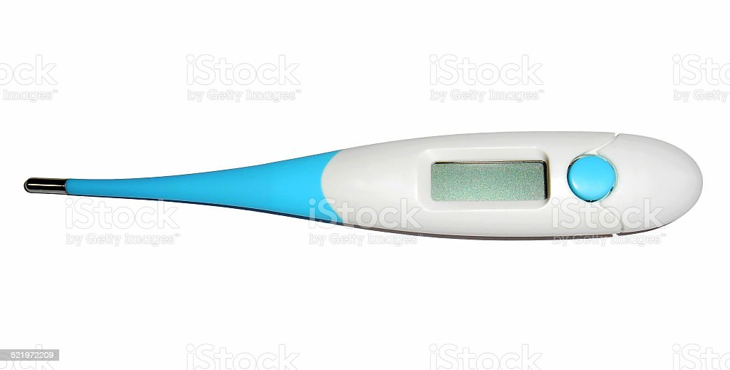 Digital thermometer, Isolated stock photo