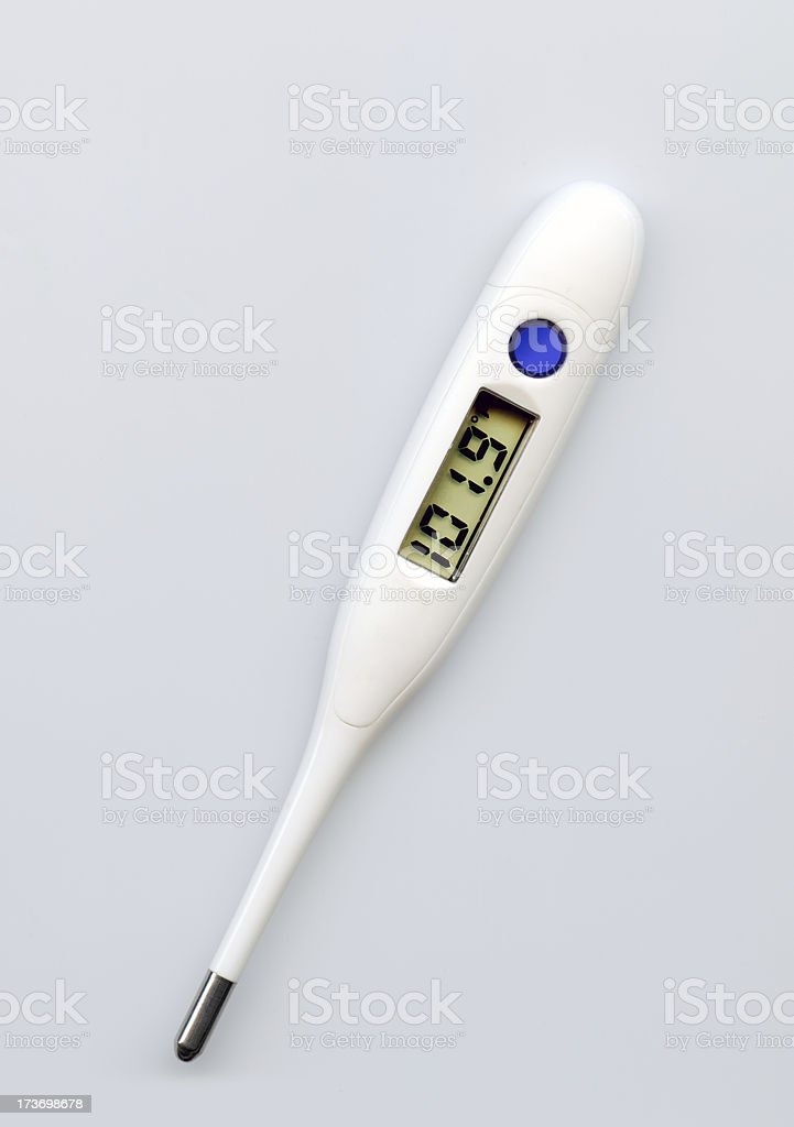 Digital thermometer royalty-free stock photo
