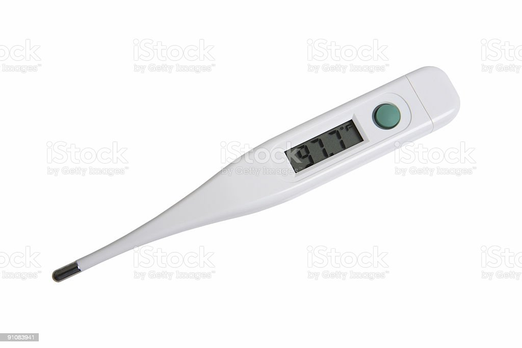 Digital Thermometer (Isolated) royalty-free stock photo