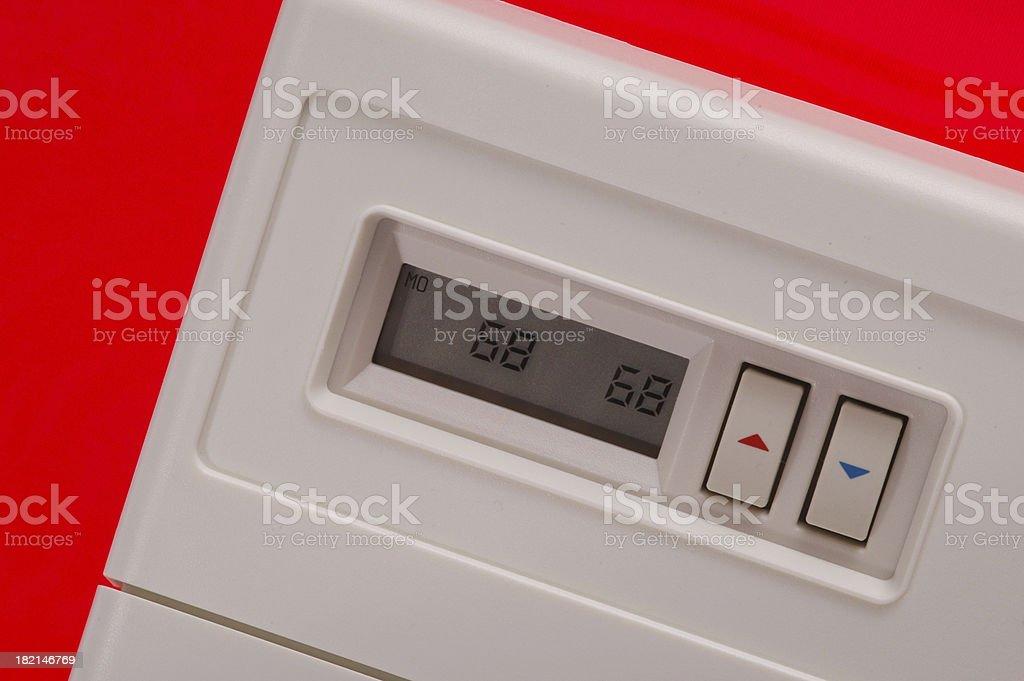 Digital Thermostat royalty-free stock photo