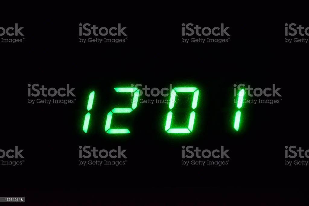 Digital time_1 stock photo