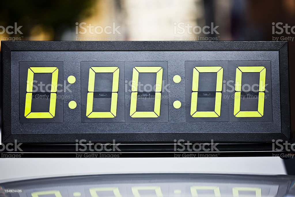 Digital timing clock on marathon stock photo