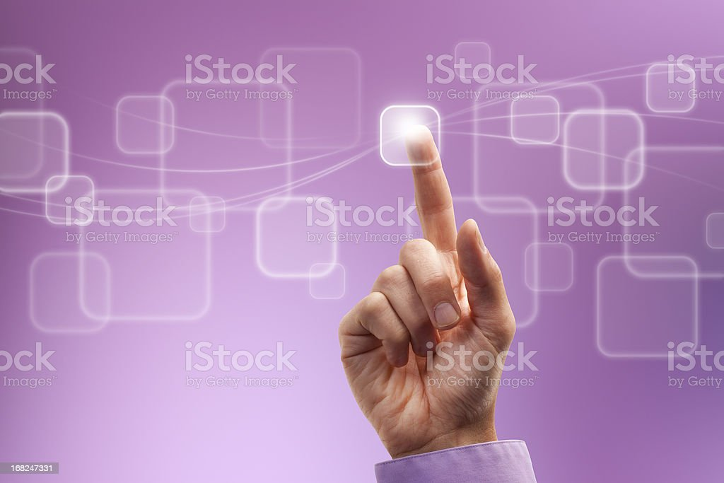 Digital Touch royalty-free stock photo