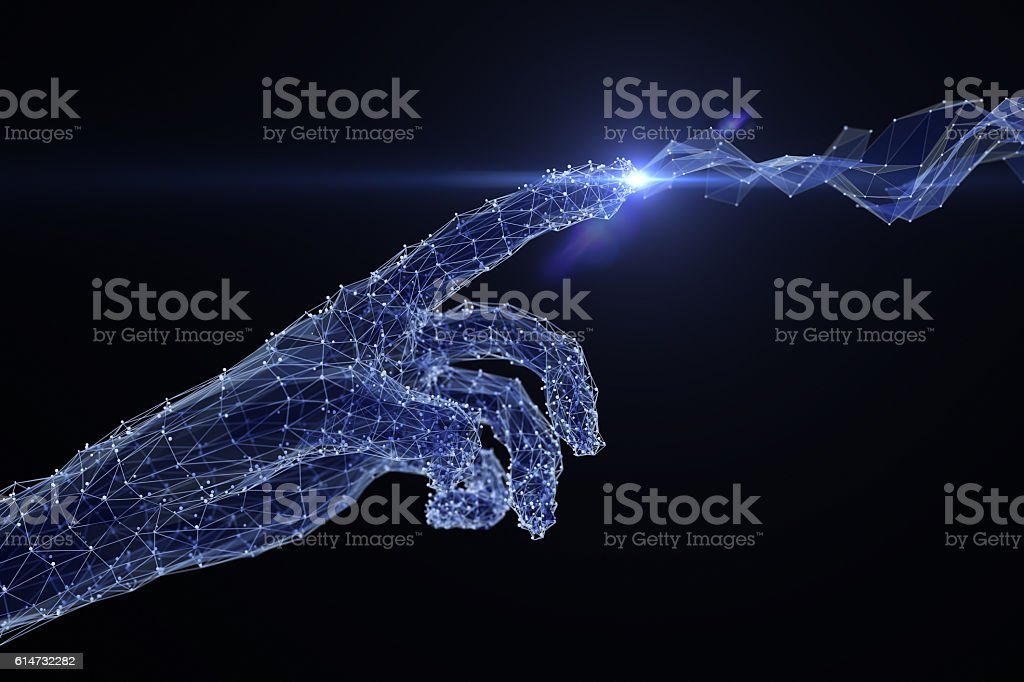 Digital touch stock photo