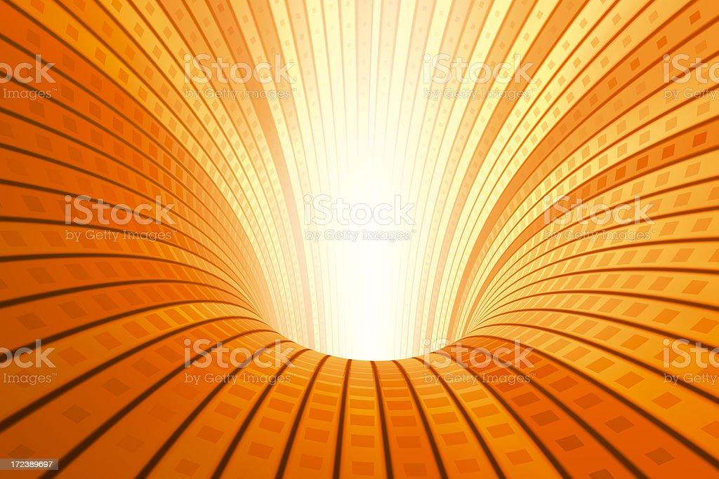 Digital Tunnel Orange royalty-free stock photo