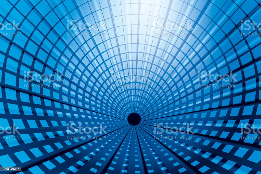Digital Tunnel stock photo