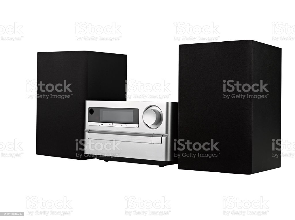 digital usb, cd player against the white background stock photo
