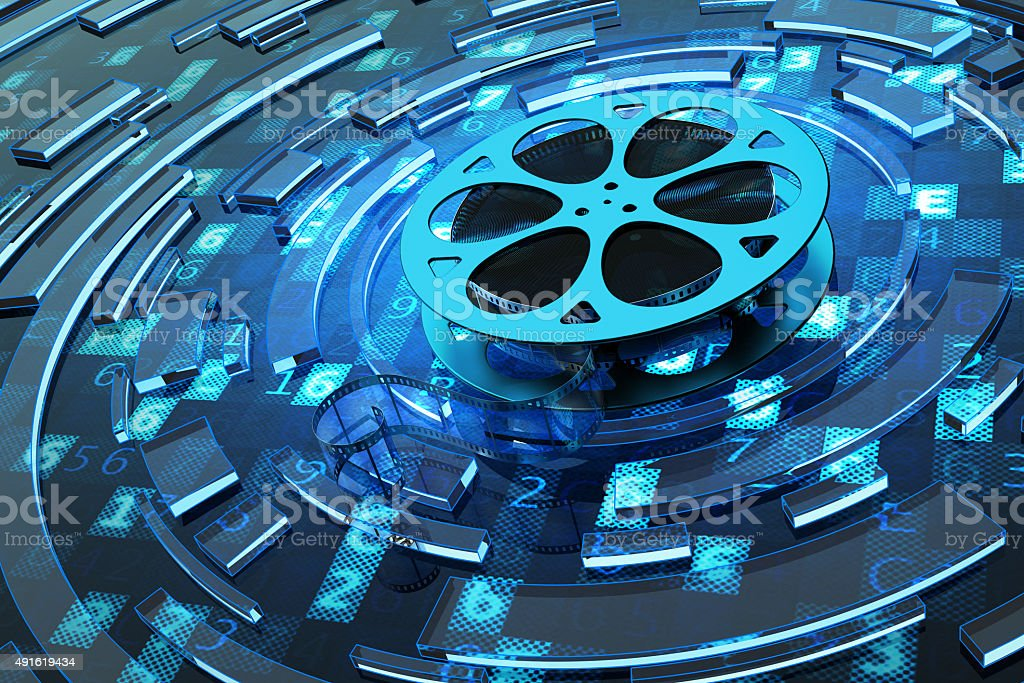 Digital video and multimedia concept stock photo