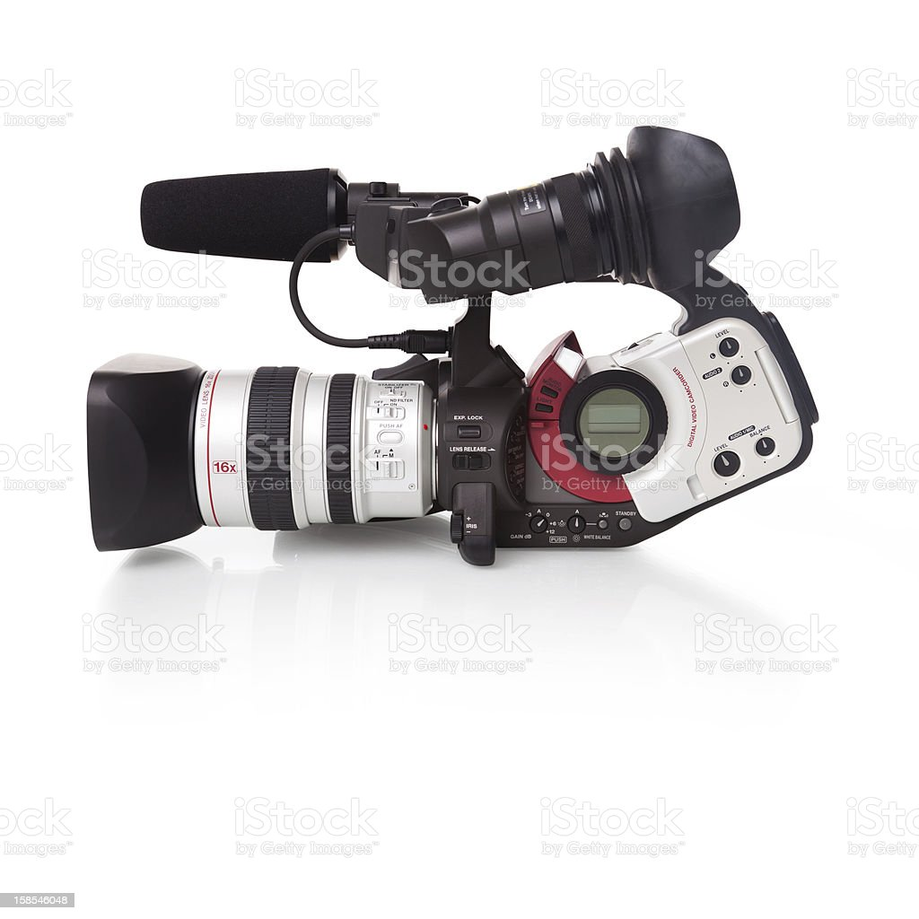 Digital Video Camera - CLIPPING PATH included stock photo