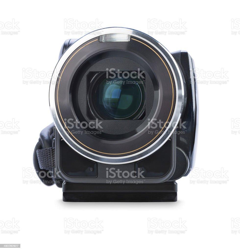 Digital video camera isolated on white background stock photo