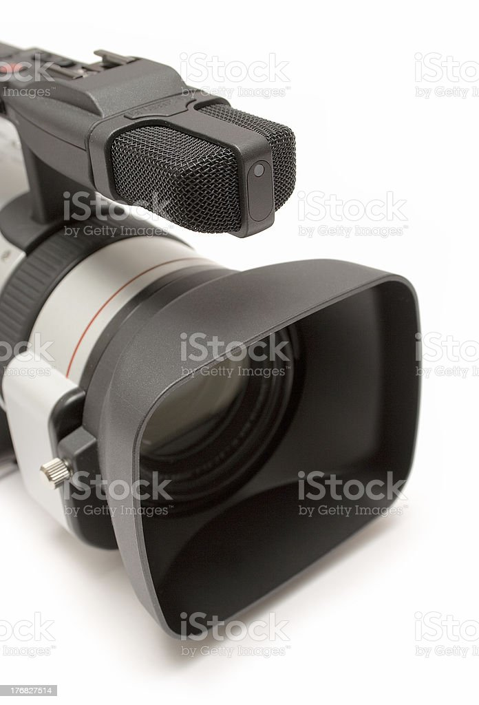 Digital Video Camera (Detail Top-Front View) royalty-free stock photo