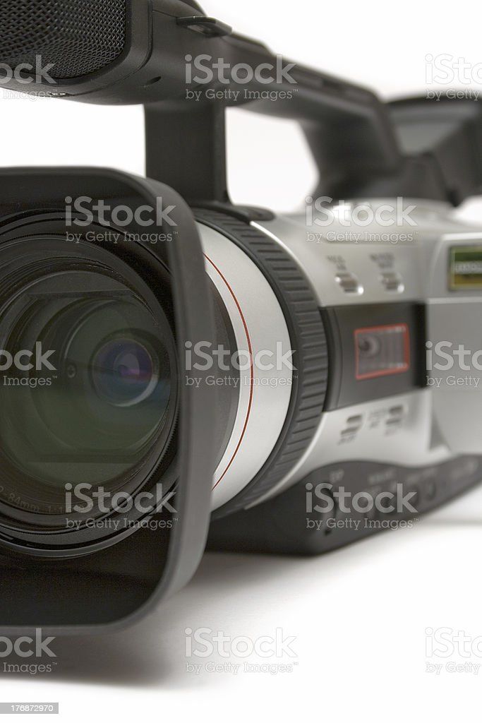 Digital Video Camera (Detail Front-Side View) royalty-free stock photo
