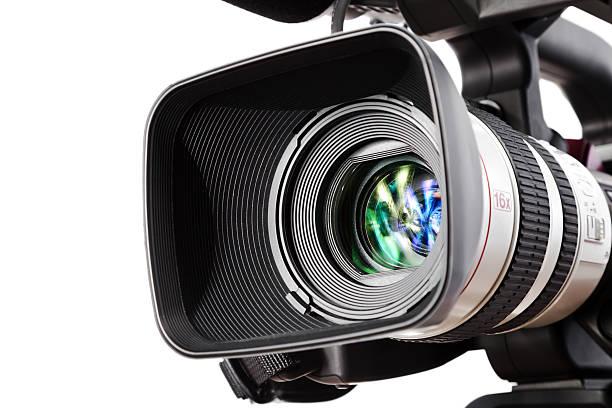 television camera media equipment tripod white background pictures