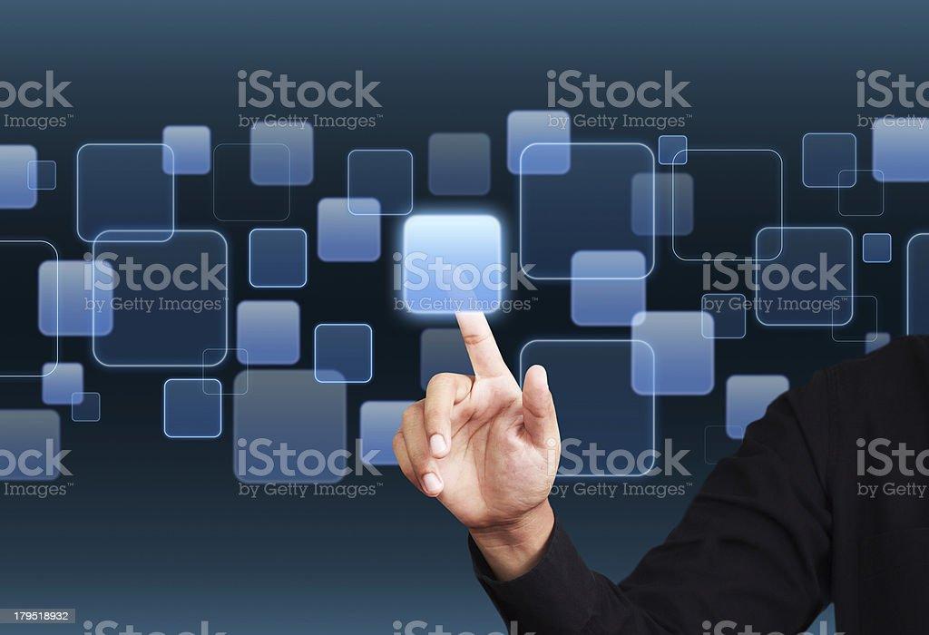 Digital virtaul screen stock photo