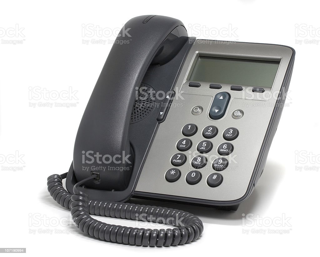 Digital VoIP phone, isolated on white background royalty-free stock photo