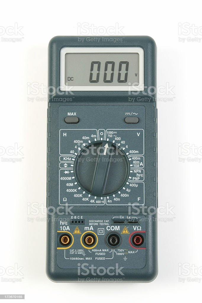 Digital Voltmeter stock photo