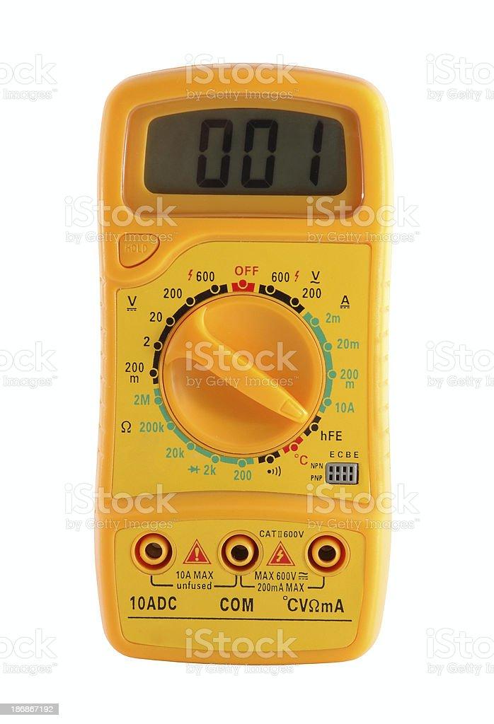 digital voltmeter royalty-free stock photo