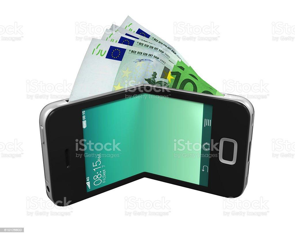 Digital Wallet Concept stock photo