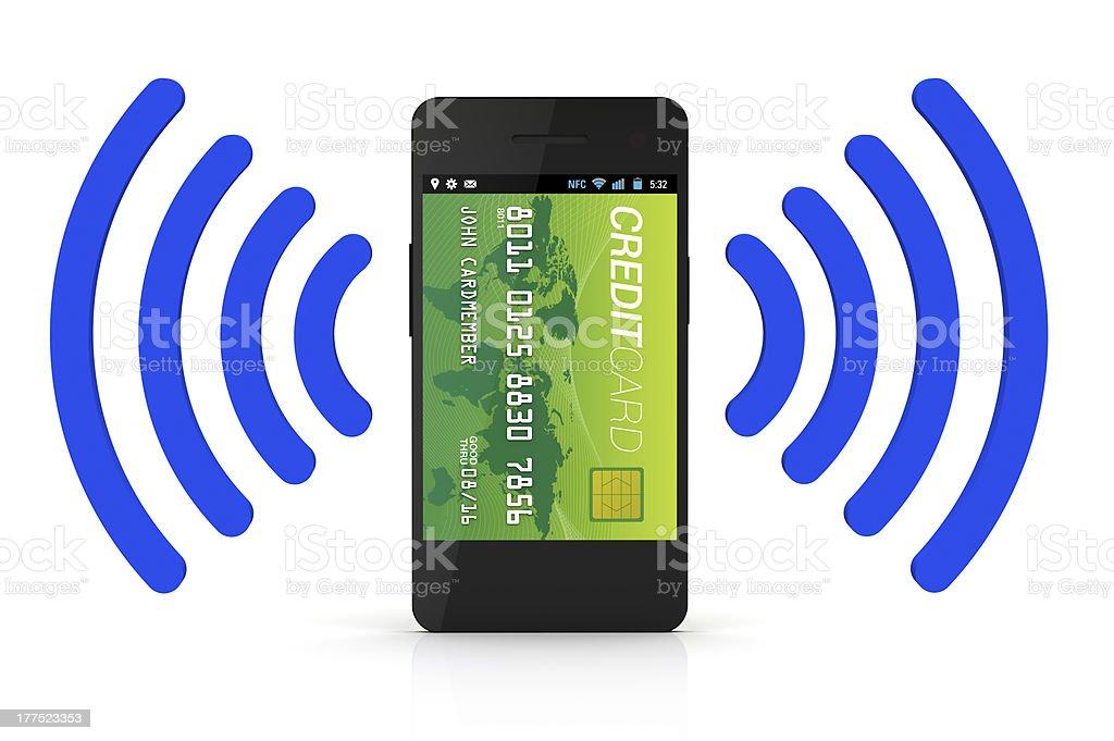 NFC Digital Wallet royalty-free stock photo