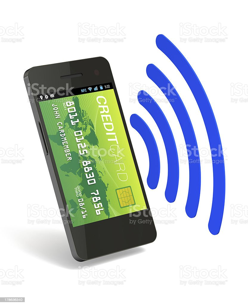 NFC Digital Wallet royalty-free stock photo
