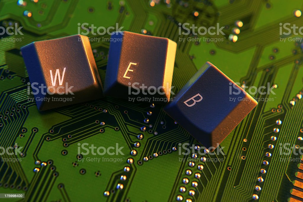 Digital Web stock photo