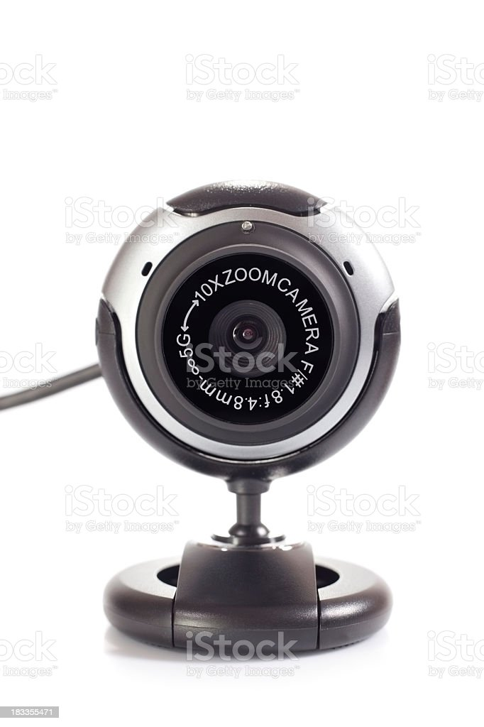A digital webcam isolated on white stock photo