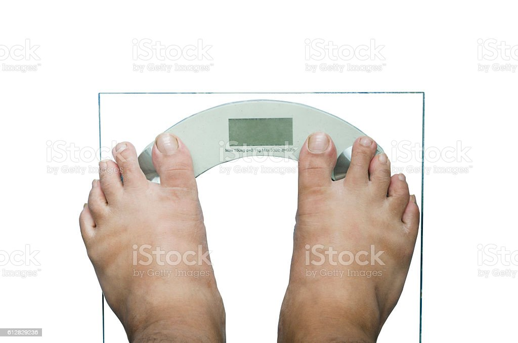 digital weight scale isolated stock photo