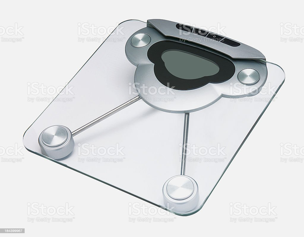 Digital Weight Scale royalty-free stock photo