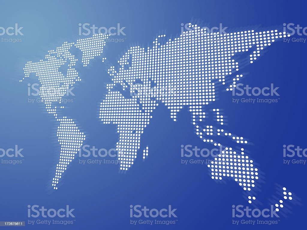 Digital World Blue stock photo