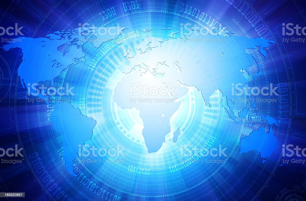 Digital world. royalty-free stock photo