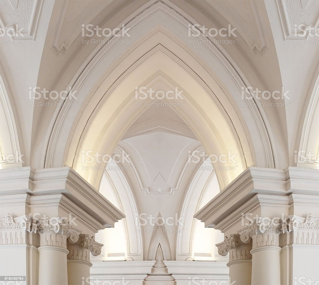Digitally composed photo of Baroque / Gothic architecture fragment stock photo