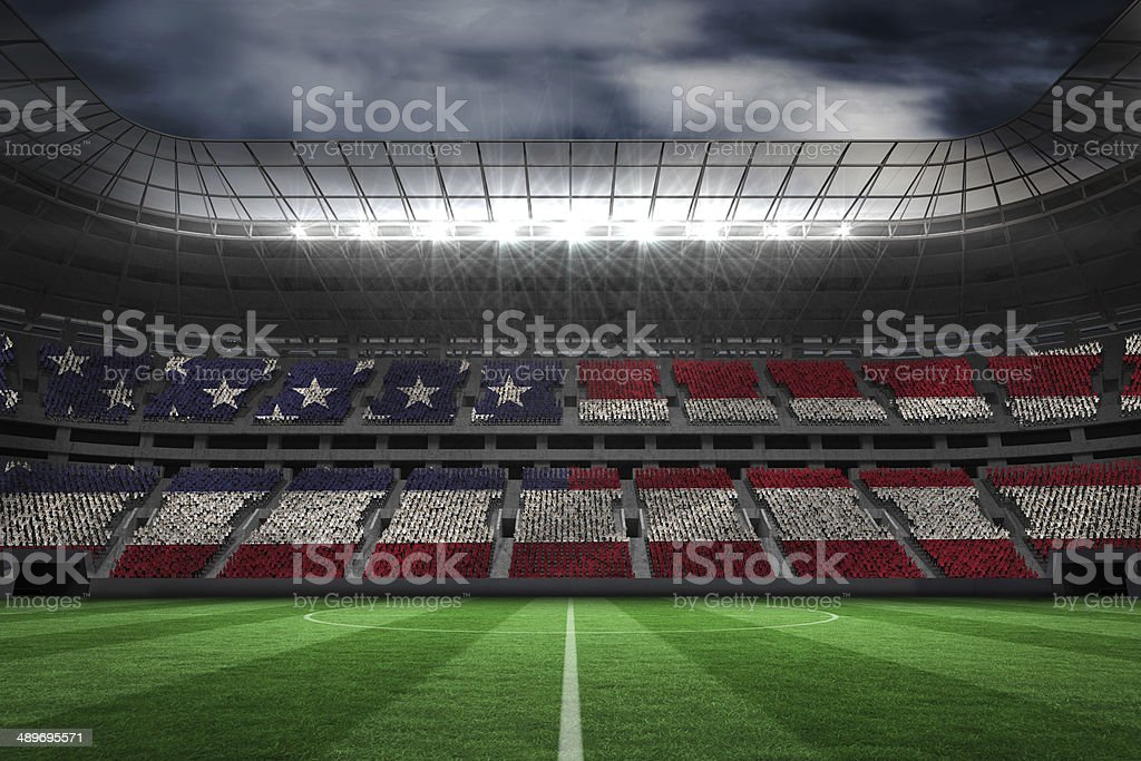 Digitally generated american national flag stock photo