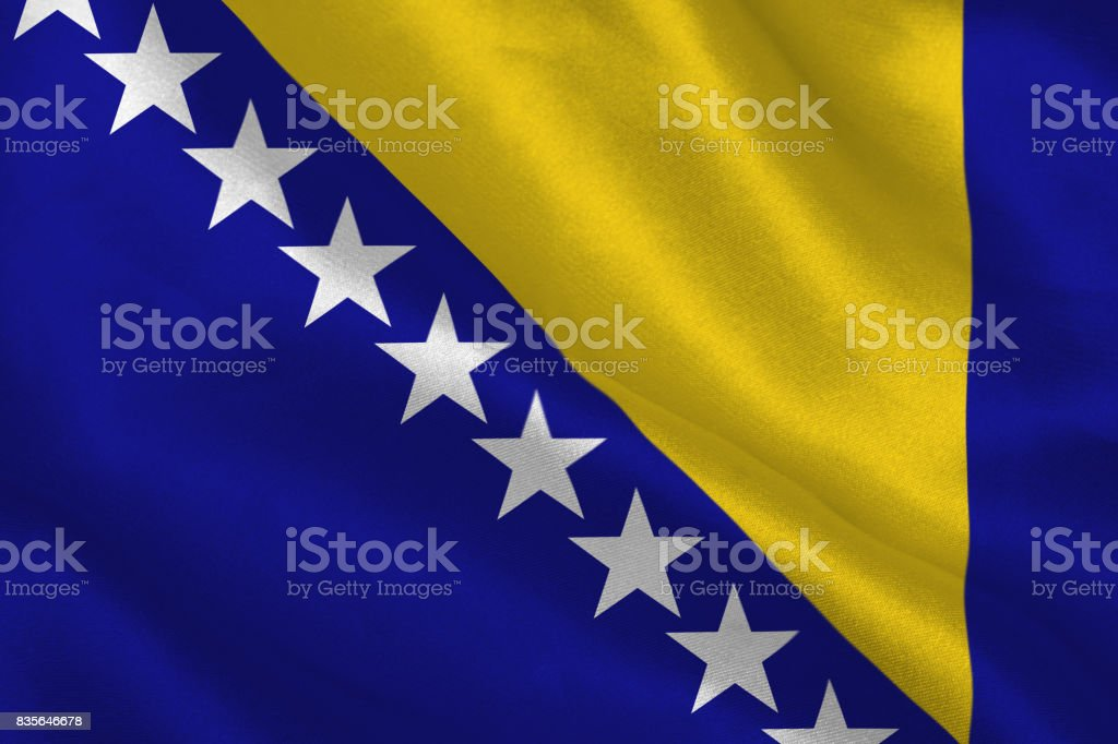 Digitally generated bosnian flag stock photo