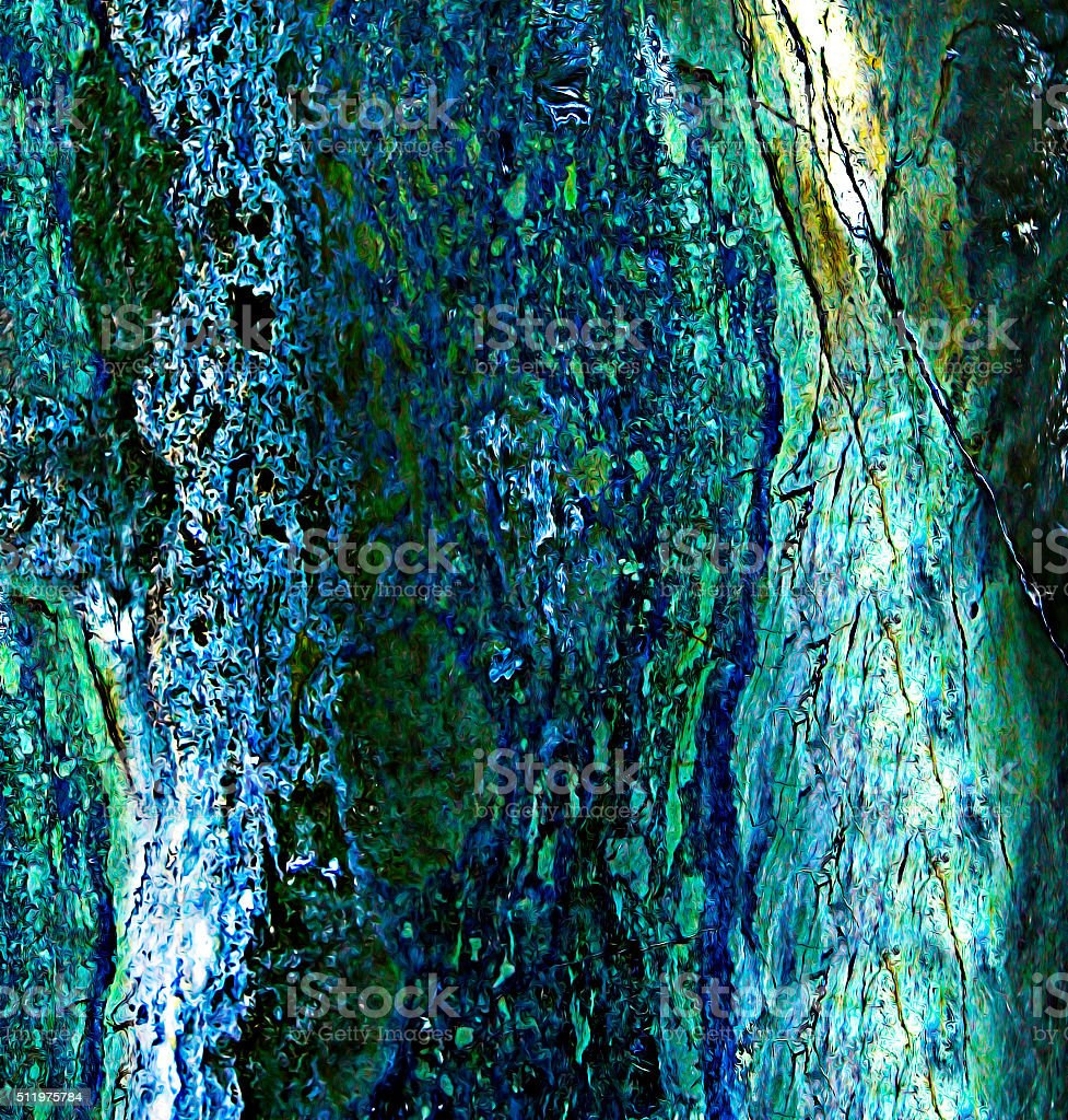Digitally generated copper surface with realistic texture of metal oxidation stock photo