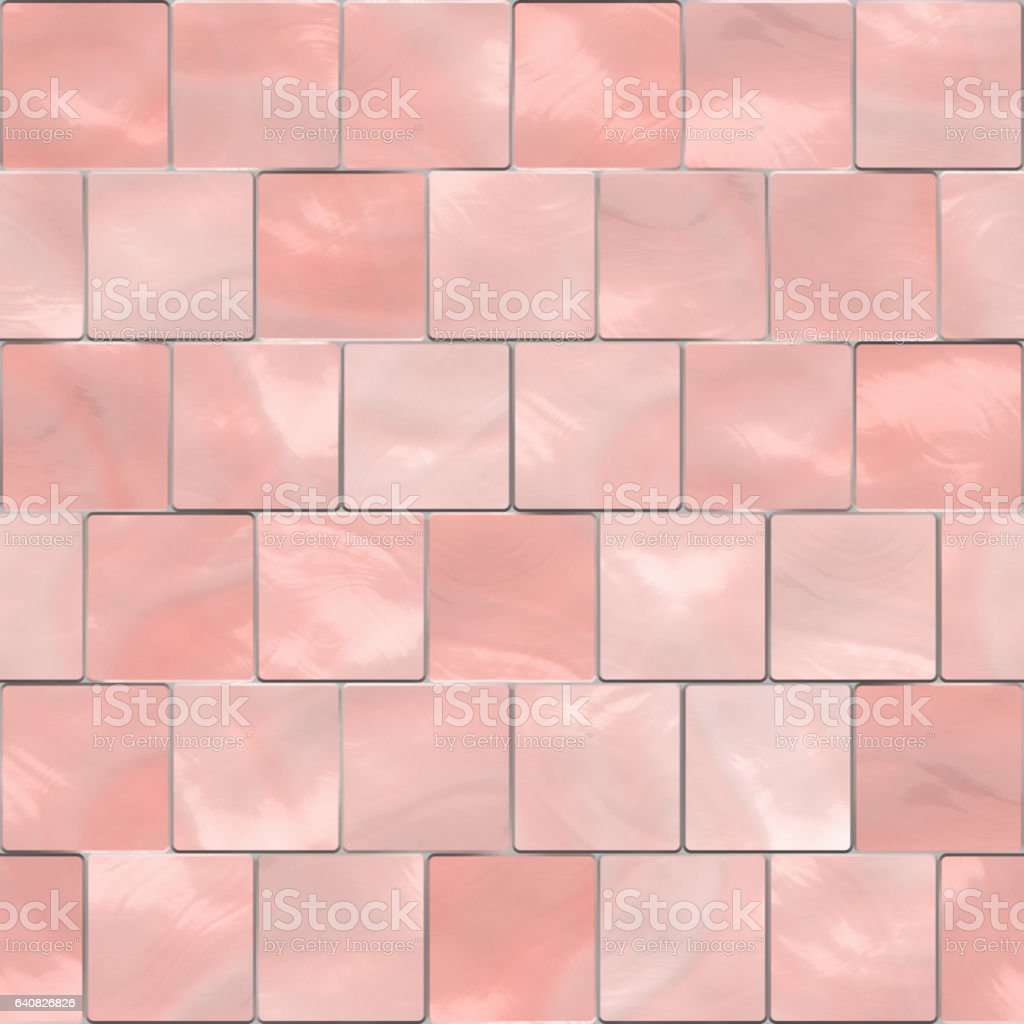 Digitally generated pink glass tile wall texture stock photo