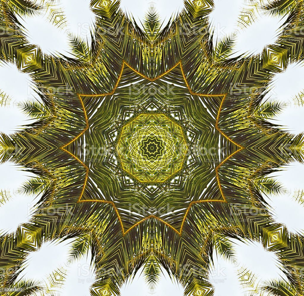 Digitally generated square fractal image stock photo