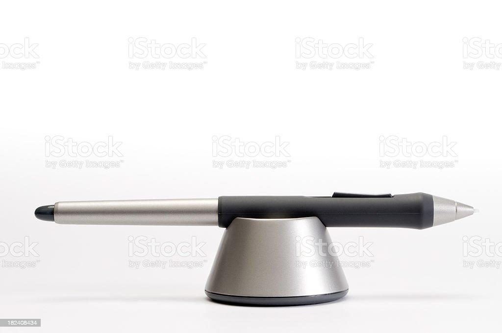 digitized pen stock photo