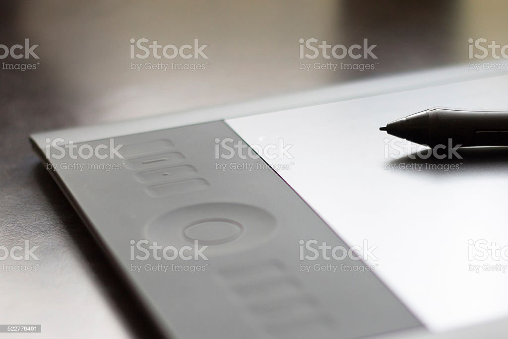 Digitizer Graphics Tablet with Pen stock photo