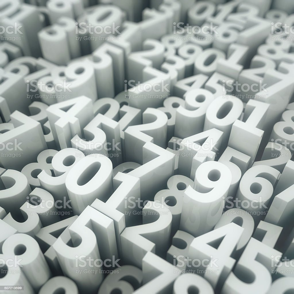 Digits matrix stock photo