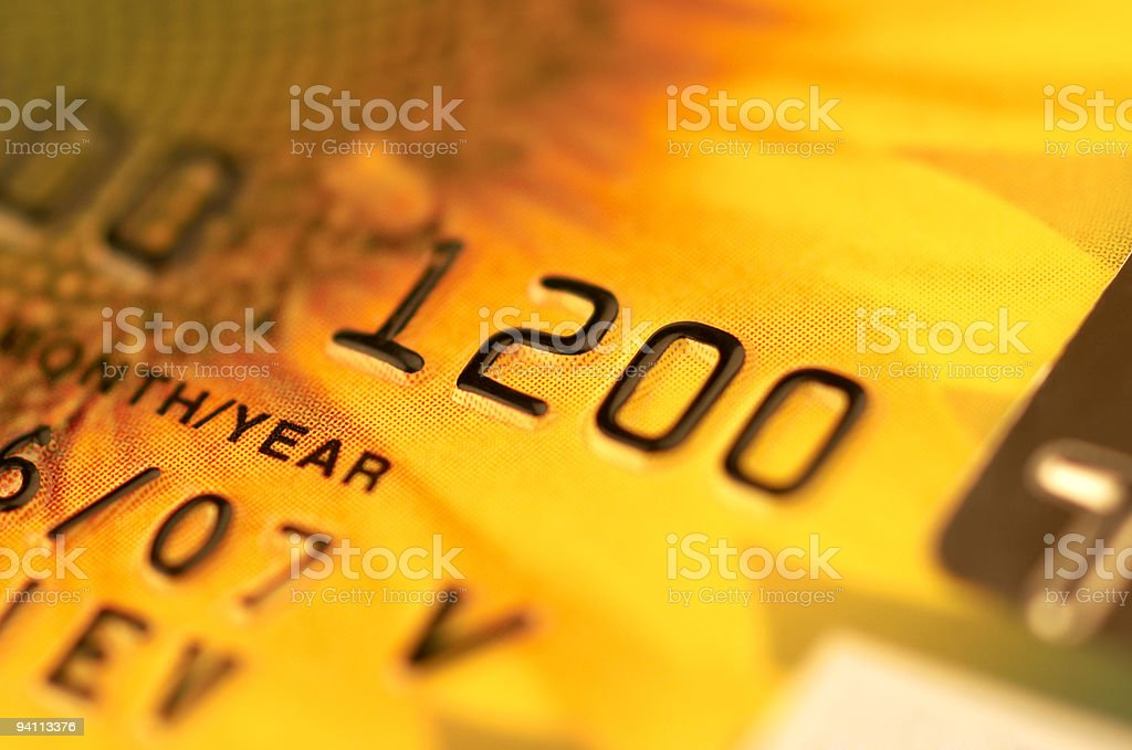 4 digits of a banking card and its expiration date  royalty-free stock photo