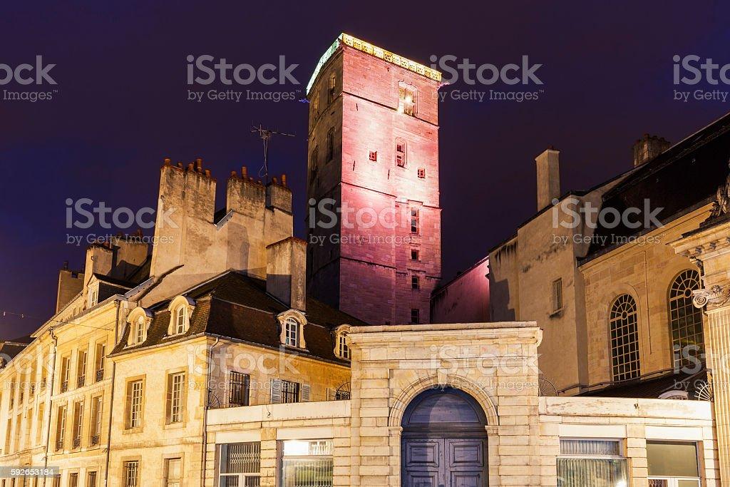 Dijon City Hall at night stock photo