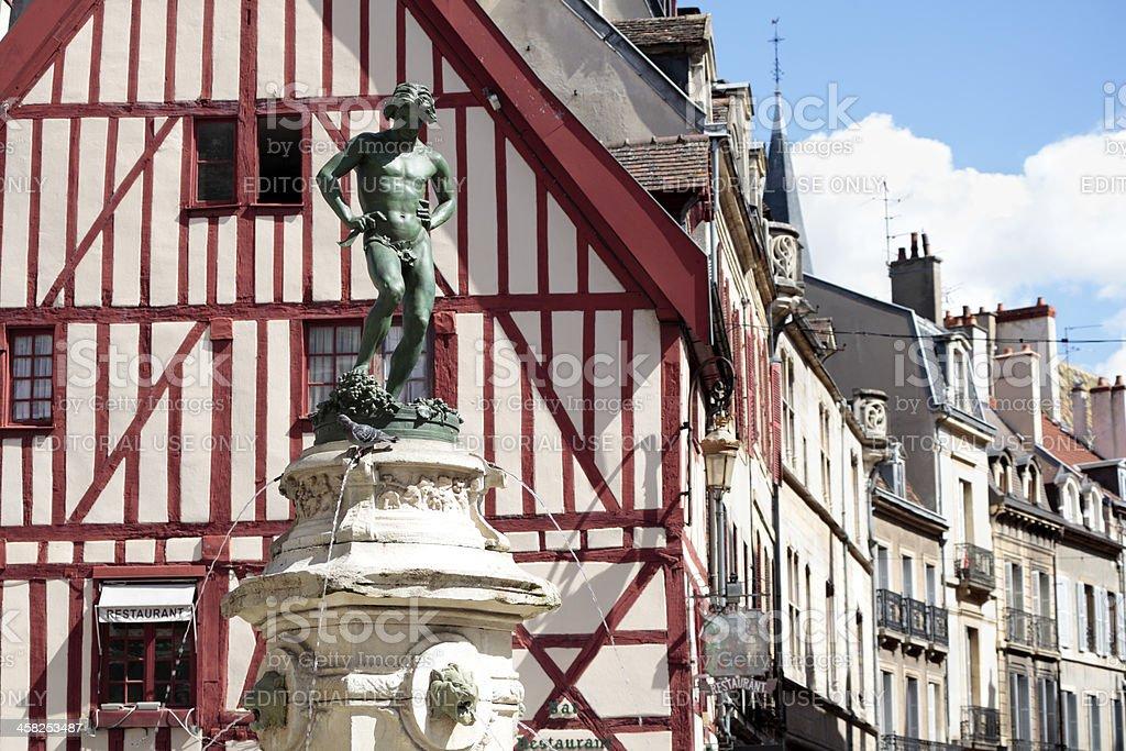 Dijon historic city square stock photo