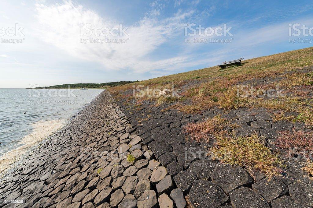 Dike on the island of Vlieland. stock photo