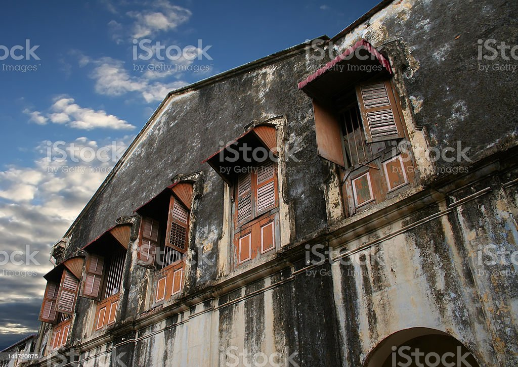 Dilapidated building royalty-free stock photo