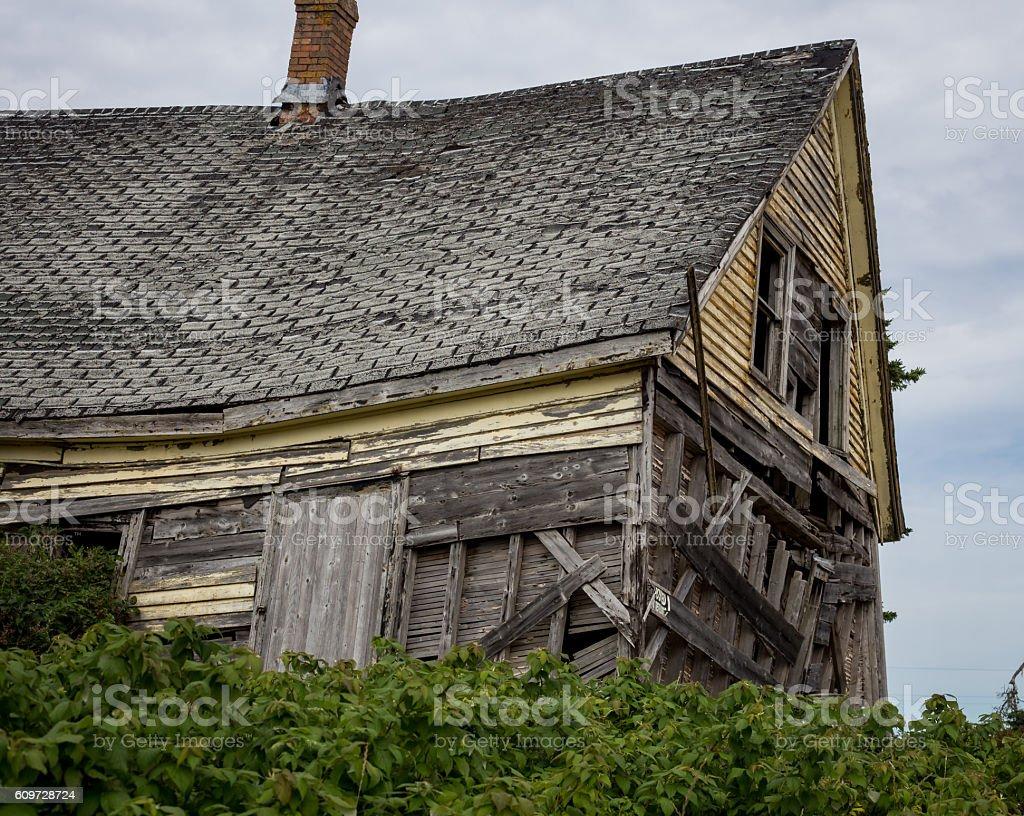 dilapidated house stock photo