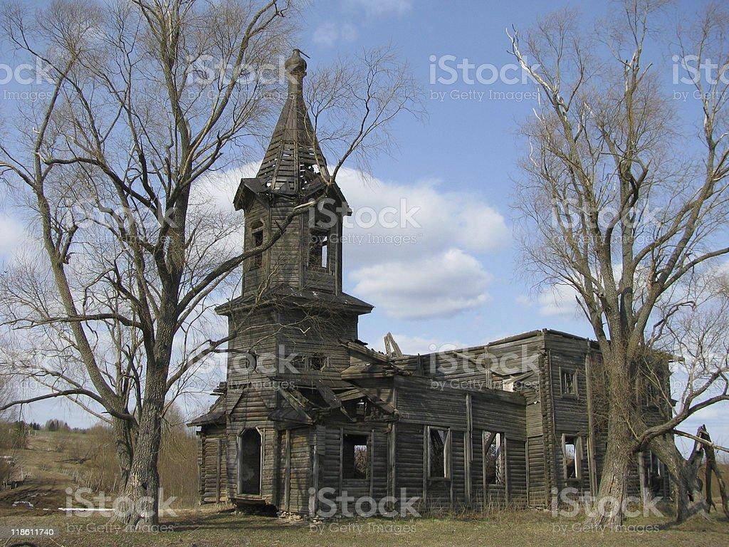 Dilapidated Orthodox Church royalty-free stock photo