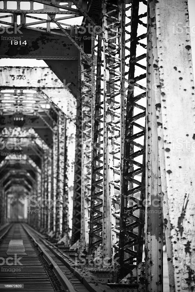 DIlapidated Rail Bridge stock photo