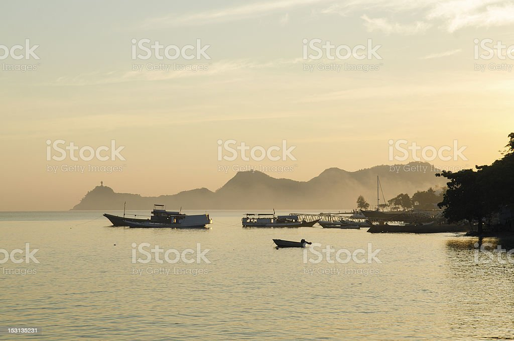 dili coastline in east timor stock photo