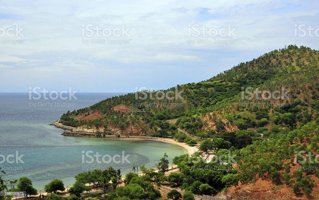 Dili, East Timor: Areia Branca beach stock photo